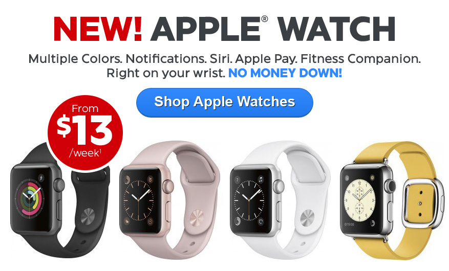 Apple Watches from $13/wk