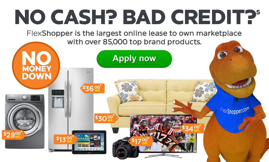 Bad Credit OK - FlexShopper helps you lease the products you love, with low weekly payments.