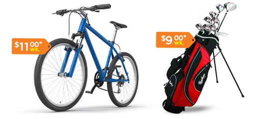 Flexshopper Rent to Own outdoor and sporting goods