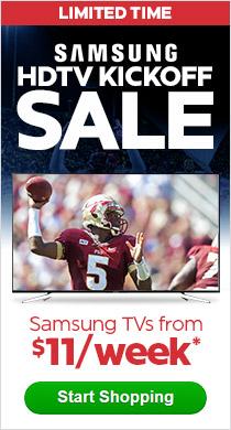 Samsung HDTV Kickoff Sale - TVs from $11/week*